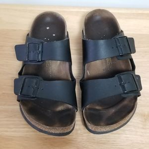 Birkenstock Arizona Sandals Black Leather Size 41
